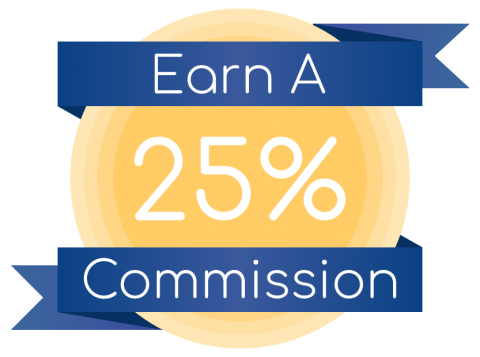 Earn a 25% commission
