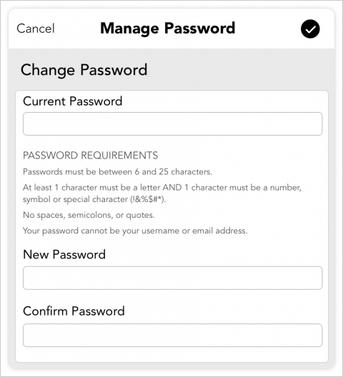 Updating Your Account Password